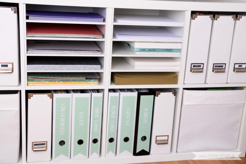 Aufbewahrung für Scrapbooking Papier Washi Tape Papieraufbewahrung Workspace | www.youdid-design.de