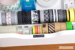 Aufbewahrung für Scrapbooking Papier Washi Tape Workspace Dymo | www.youdid-design.de