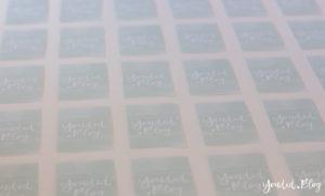 Handlettering Logo Watercolor Business Card Visitenkarten wasserfarben | https://youdid.blog