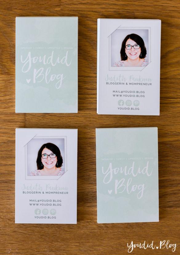 Visitenkarten wasserfarben Foto auf der Visitenkarte | https://youdid.blog