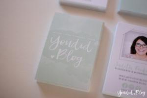 Visitenkarten wasserfarben Handlettering Logo on Business Card | https://youdid.blog