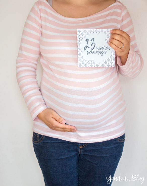 23. Schwangerschaftswoche Schwangerschaftsupdate Babybauch Baby Bump | https://youdid.blog