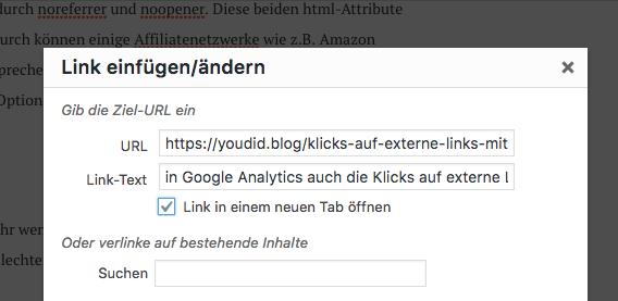 WordPress Update verhindert Affiliate Tracking durch noreferrer und noopener bei target blank | https://youdid.blog