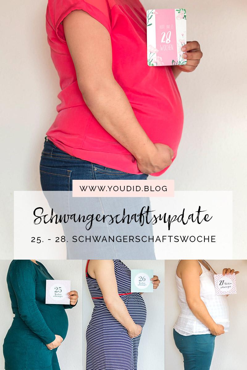 25. - 28. Schwangerschaftswoche Schwangerschaftsupdate Babybauch Baby Bump Bauchfotos | https://youdid.blog