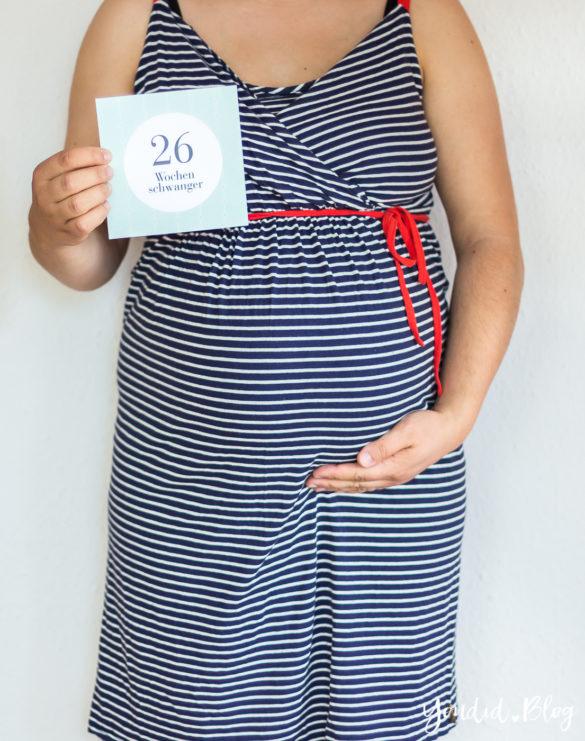 26. Schwangerschaftswoche Schwangerschaftsupdate Babybauch Baby Bump Bauchfotos Baby Belly | https://youdid.blog