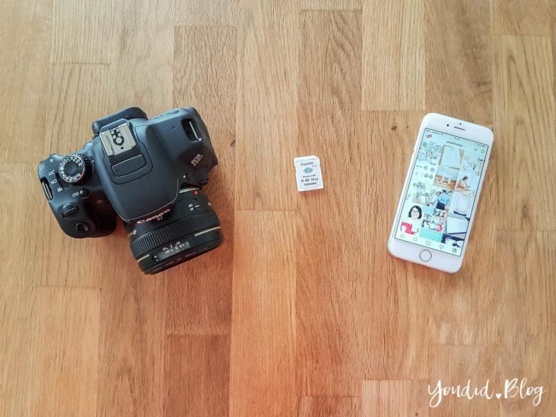Bilder von deiner Kamera direkt aufs Handy kopieren und auf Instagram posten mit einer WLAN SD-Kart#e | https://youdid.blog