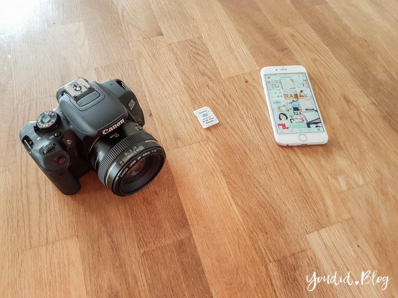 Fotos von deiner Kamera direkt aufs Handy kopieren und auf Instagram posten mit einer WLAN SD-Karte | https://youdid.blog