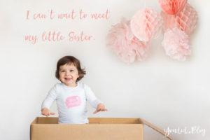 Genderreveal with sibling Girl little sister big sister   https://youdid.blog