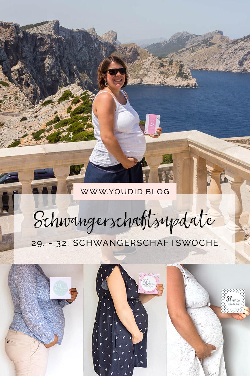 29. - 32.Schwangerschaftswoche Schwangerschaftsupdate Babybauch Baby Bump Bauchfotos Baby Belly | https://youdid.blog