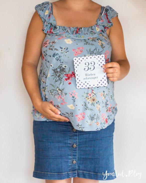 33. Schwangerschaftswoche Schwangerschaftsupdate Babybauch Baby belly | https://youdid.blog