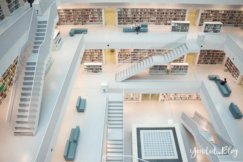 Architektur Stadtbücherei Stuttgart Bibliothek Library | https://youdid.blog