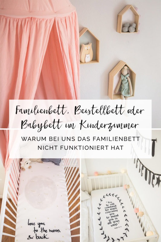Skandinavisches Kinderzimmer Bettlaken Love you to the moon my little love Hausregale Beistellbett Familienbett Babybett IKEA Hack Kinderbett | https://youdid.blog