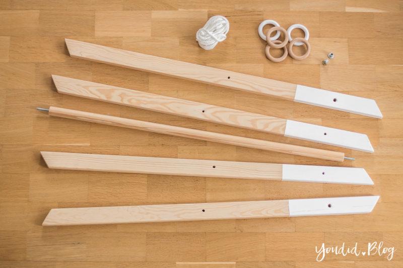 Bauanleitung für einen DIY Holz Spielbogen im skandinavischen Stil Wooden play gym Activity Decke nordic interior | https://youdid.blog