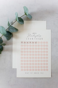 Wedding Countdown Print | https://youdid.blog