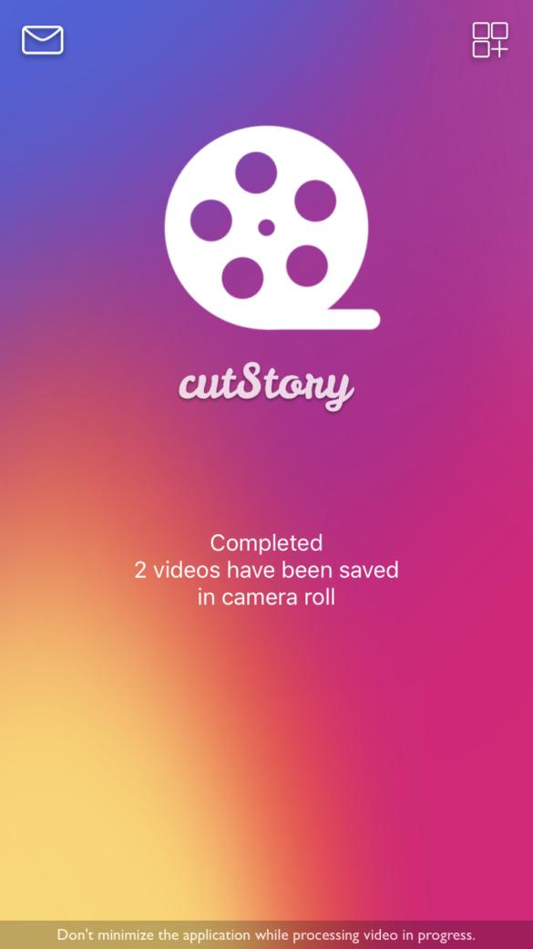 Sauberer Übergang Instagram Story Lange Videos schneiden mit CutStory Anleitung | https://youdid.blog
