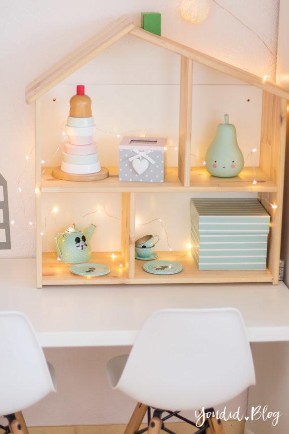 nordic kidsroom skandinavisches Kinderzimmer IKEA Puppenhaus Flisat | https://youdid.blog