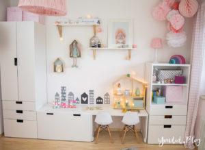 nordic kidsroom skandinavisches Kinderzimmer IKEA Stuva Hema Wabeball Mädchenzimmer rosa pink   https://youdid.blog