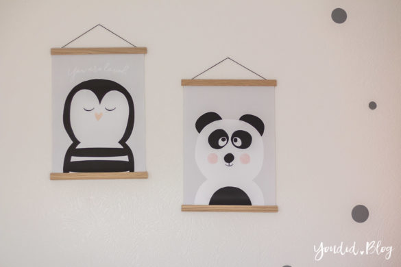 nordic kidsroom skandinavisches Kinderzimmer Prints Panda Pinguin | https://youdid.blog
