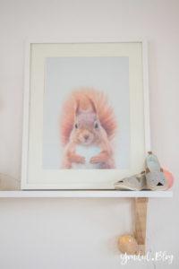 nordic kidsroom skandinavisches Kinderzimmer Waldtiere Eichhörnchen   https://youdid.blog