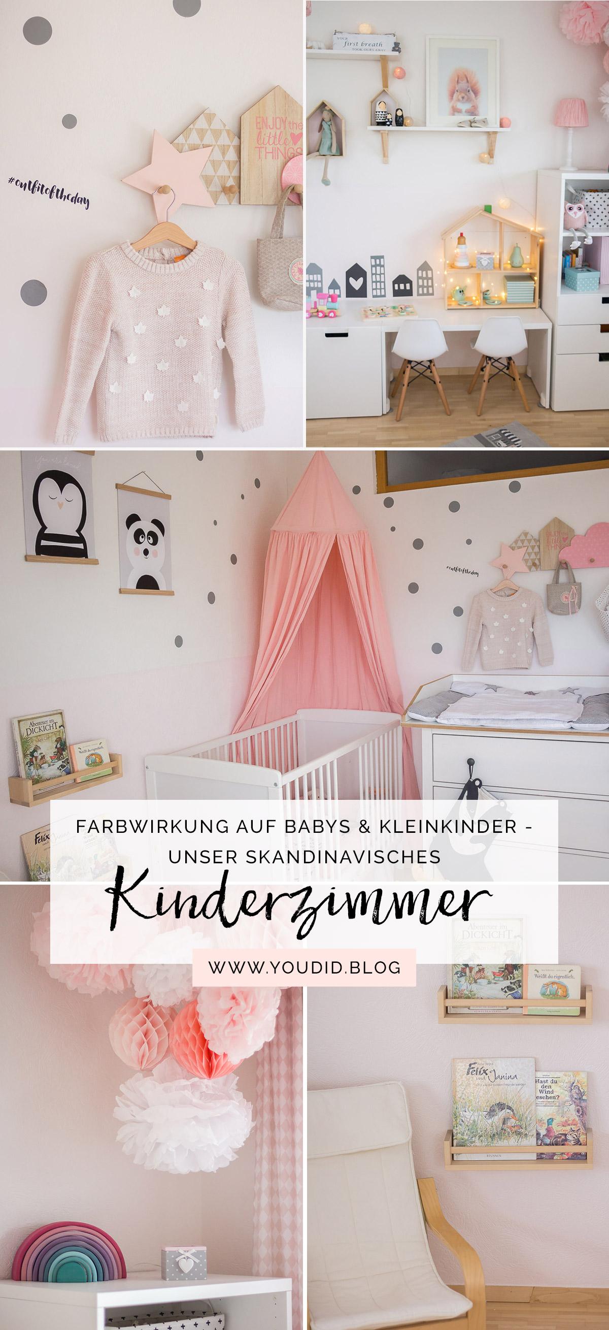 skandinavisches Kinderzimmer nordic kidsroom girlsroom in pink and blush | https://youdid.blog