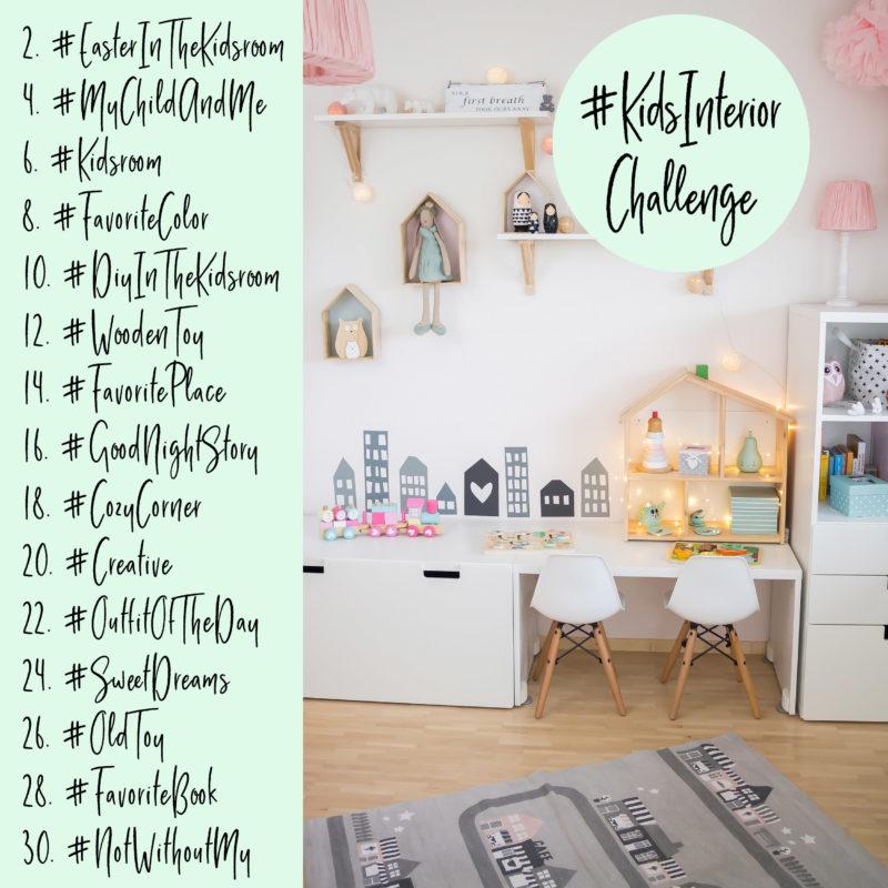 Instagram Kidsinteriorchallenge Inspiration fürs Kinderzimmer Themenhashtags | https://youdid.blog