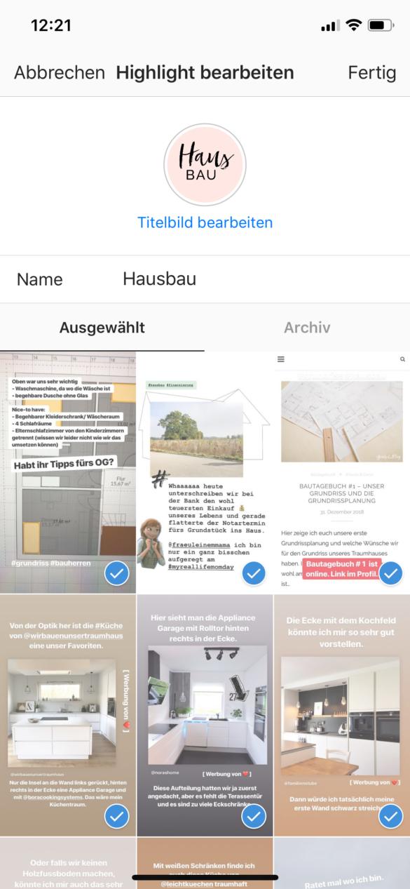 Tutorial Instagram Highlight Titelbilder ändern ohne sie in der Story zu posten - Einheitliche Instagram Highlight Cover | https://youdid.blog