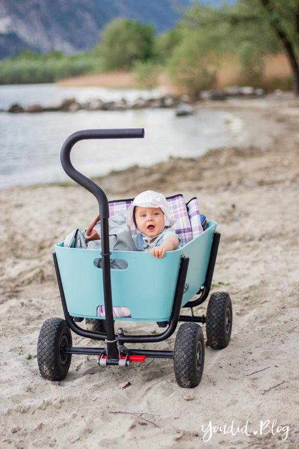Jipfish stylischer Bollerwagen statt Geschwisterwagen - Bollerwagen für den Strand | https://youdid.blog