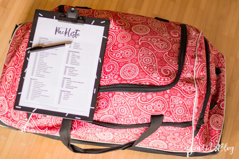 Koffer packen leicht gemacht Kostenlose Universal Packliste für Frauen Freebie Printable Packing List Guide | https://youdid.blog