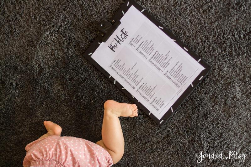Kostenlose Baby Packliste zum Downloaden | https://youdid.blog
