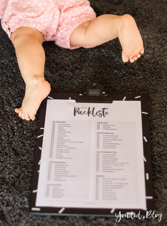 Kostenlose Baby Packliste zum Downloaden Freebie Baby Packliste | https://youdid.blog