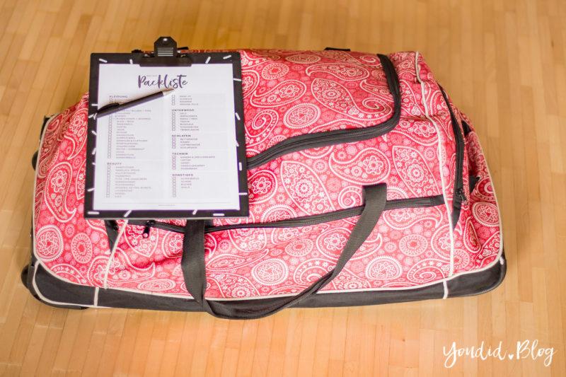 Kostenlose Universal Koffer Packliste für Frauen Freebie Printable Packing List Guide Checkliste für den Urlaub | https://youdid.blog