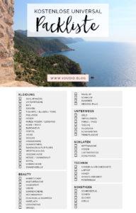Kostenlose Universal Packliste fuer Frauen Freebie Printable Packing List Guide Checkliste fuer den Urlaub | https://youdid.blog