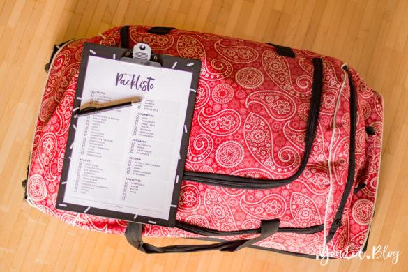 Kostenlose Universal Packliste für Frauen Freebie Printable Packing List Guide Checkliste für den Urlaub Koffer packen leicht gemacht | https://youdid.blog