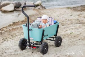 Stylischer Bollerwagen statt Geschwisterwagen - Wir testen im Strandurlaub den Jipfish Handwagen | https://youdid.blog