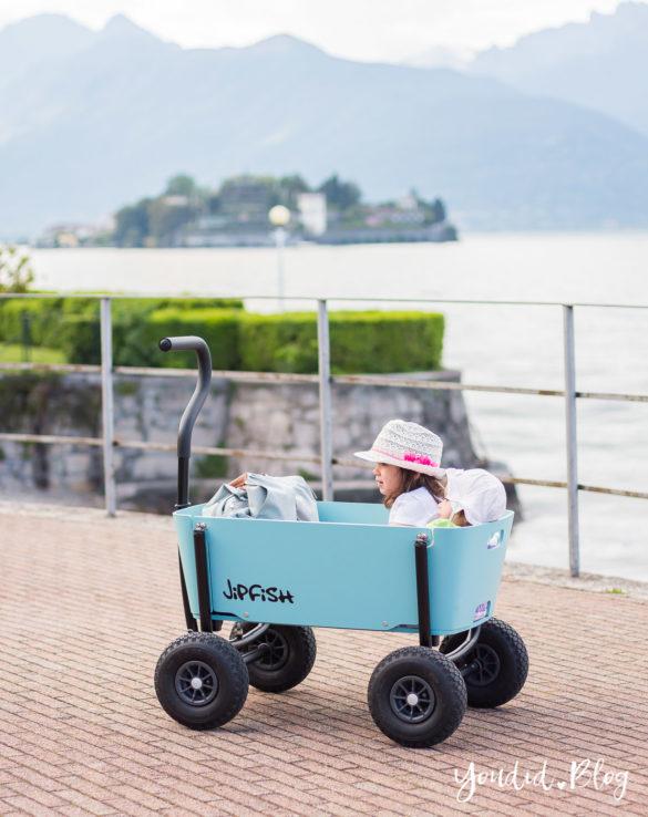 Stylischer Bollerwagen statt Geschwisterwagen - Wir testen in Italien den Jipfish Bollerwagen | https://youdid.blog