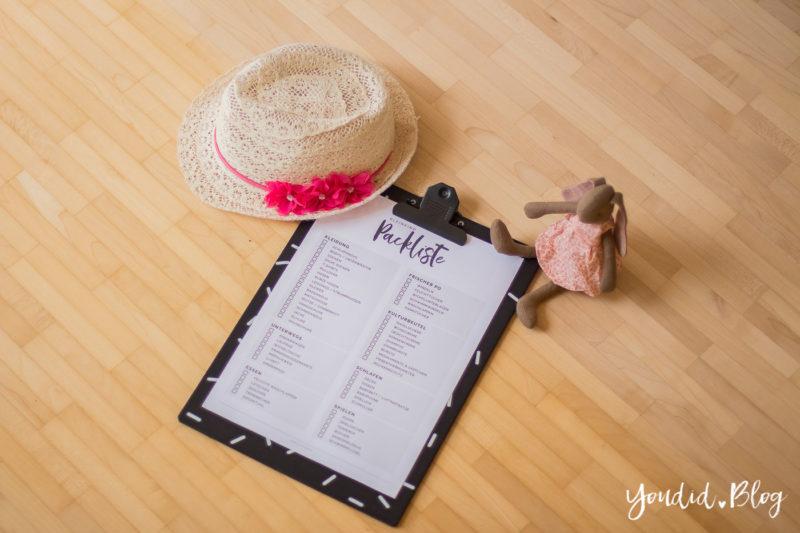 Gratis Kleinkind Packliste Freebie Download - Urlaub mit Baby und Kleinkind Checkliste | https://youdid.blog