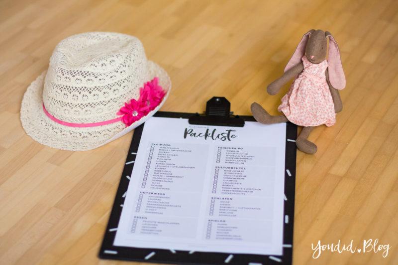 Kostenlose Kleinkind Packliste Freebie Download - Urlaub mit Kind Checkliste | https://youdid.blog