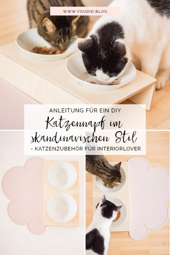 Anleitung DIY Katzennapf im skandinavischen Stil - Fressnapf Futternapf Katzenbar Katzenzubehör für Interiorlover - DIY pet bowl | https://youdid.blog