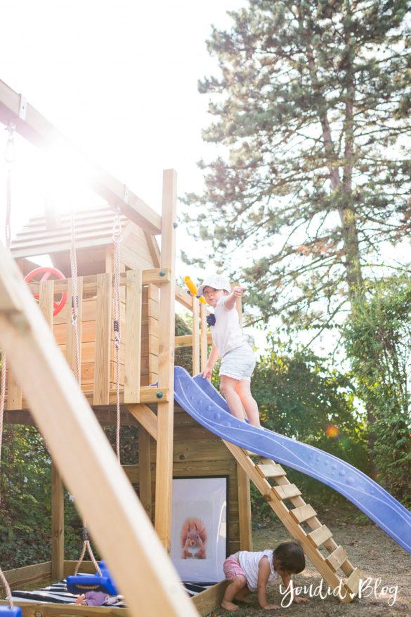 Ein Kletterturm mit Rutsche Sandkasten Schaukel und Spielhaus - Unsere Erfahrung mit dem Wickey Spielturm | https://youdid.blog