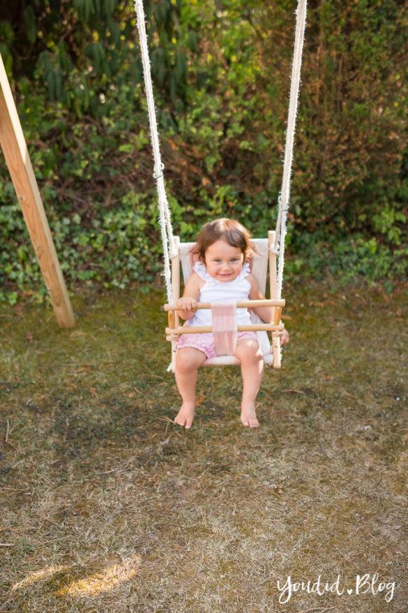 Ein Kletterturm mit Rutsche Sandkasten Schaukel und Spielhaus - Unsere Erfahrung mit dem Wickey Spielturm Babyschaukel | https://youdid.blog