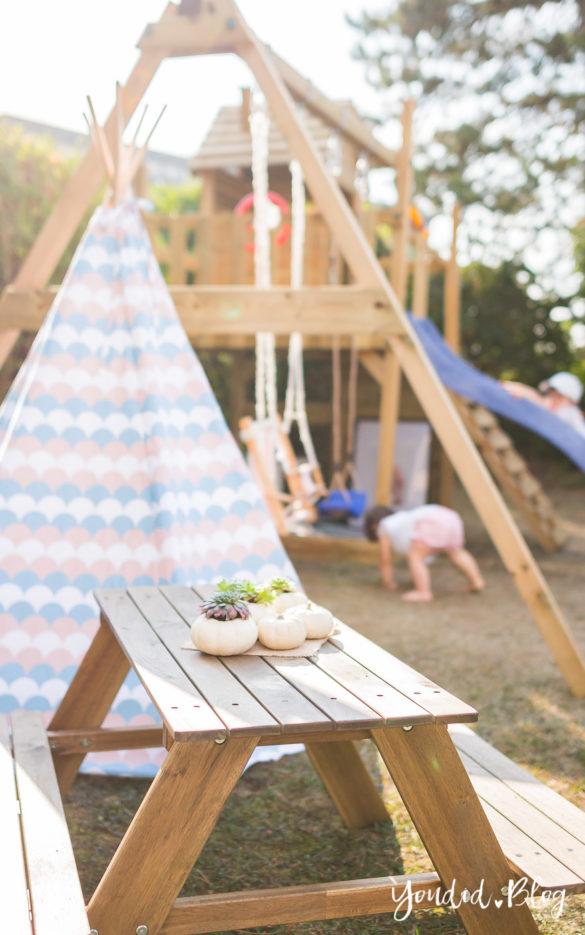 Ein Kletterturm mit Rutsche Sandkasten Schaukel und Spielhaus - Unsere Erfahrung mit dem Wickey Spielturm Outdoor | https://youdid.blog