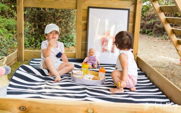 Ein Kletterturm mit Rutsche Sandkasten Schaukel und Spielhaus - Unsere Erfahrung mit dem Wickey Spielturm Picknick | https://youdid.blog