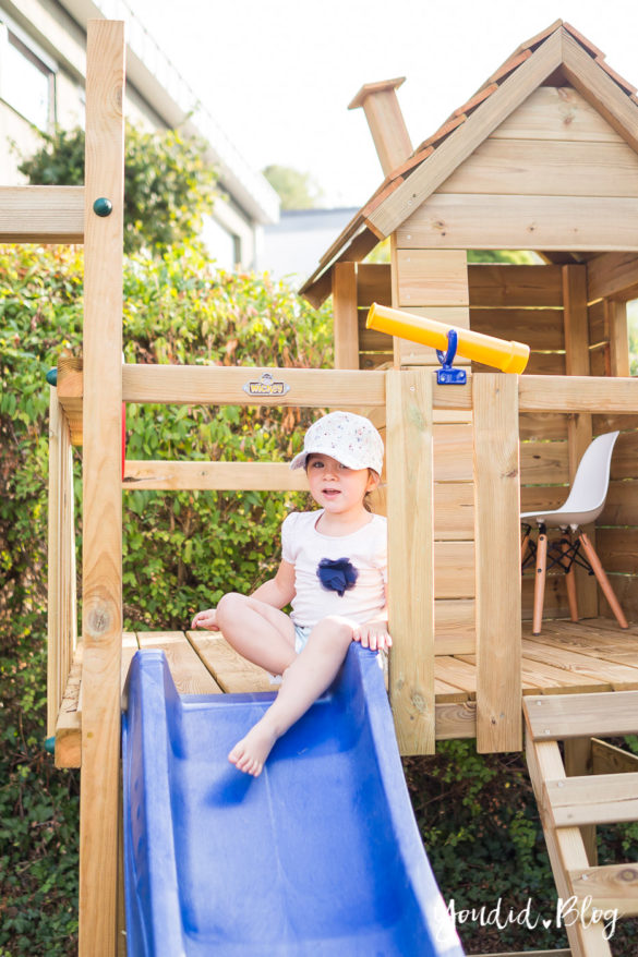 Ein Kletterturm mit Rutsche Sandkasten Schaukel und Spielhaus Wickey Spielturm Testbericht | https://youdid.blog