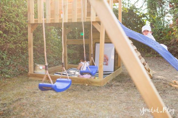 Ein Kletterturm mit Sandkasten Rutsche Schaukel und Spielhaus - Unsere Erfahrung mit dem Wickey Spielturm | https://youdid.blog