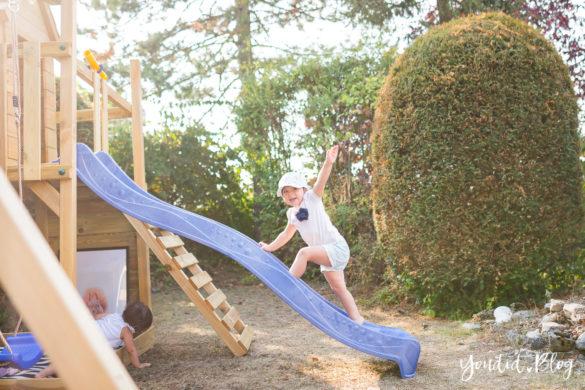 Ein Kletterturm mit Spielhaus Rutsche Sandkasten und Schaukel - Unsere Erfahrung mit dem Wickey Spielturm | https://youdid.blog