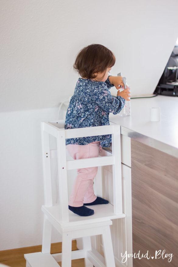 IKEA Hack DIY Learning Tower selber bauen Bauanleitung für einen Lernturm aus günstigen IKEA Hockern | https://youdid.blog