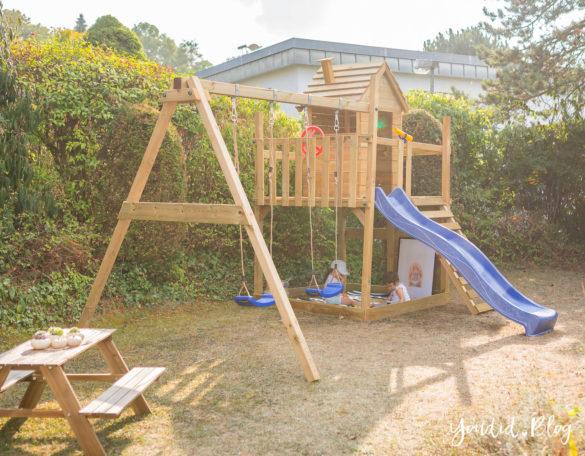 Smart Lodge 120 Kletterturm mit Rutsche Sandkasten Schaukel und Spielhaus - Unsere Erfahrung mit dem Wickey Spielturm | https://youdid.blog
