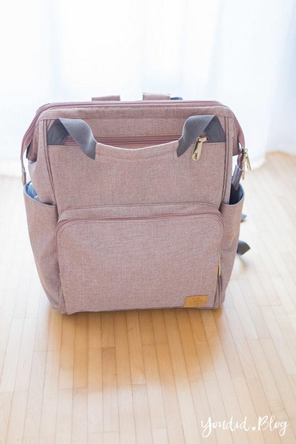 Was ist praktischer Wickeltasche oder Wickelrucksack Glam Goldie von Lässig | https://youdid.blog