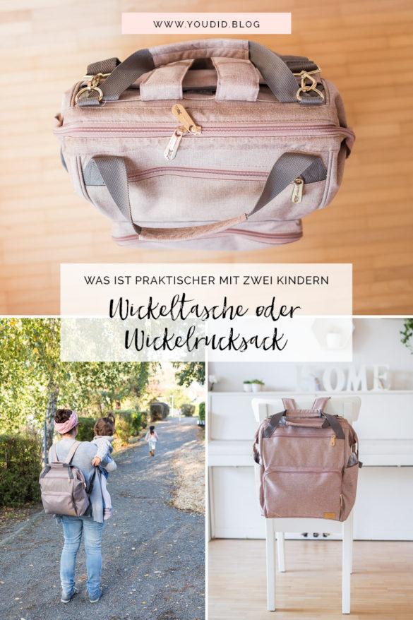 Wickeltasche oder Wickelrucksack Glam Goldie von Lässig | https://youdid.blog