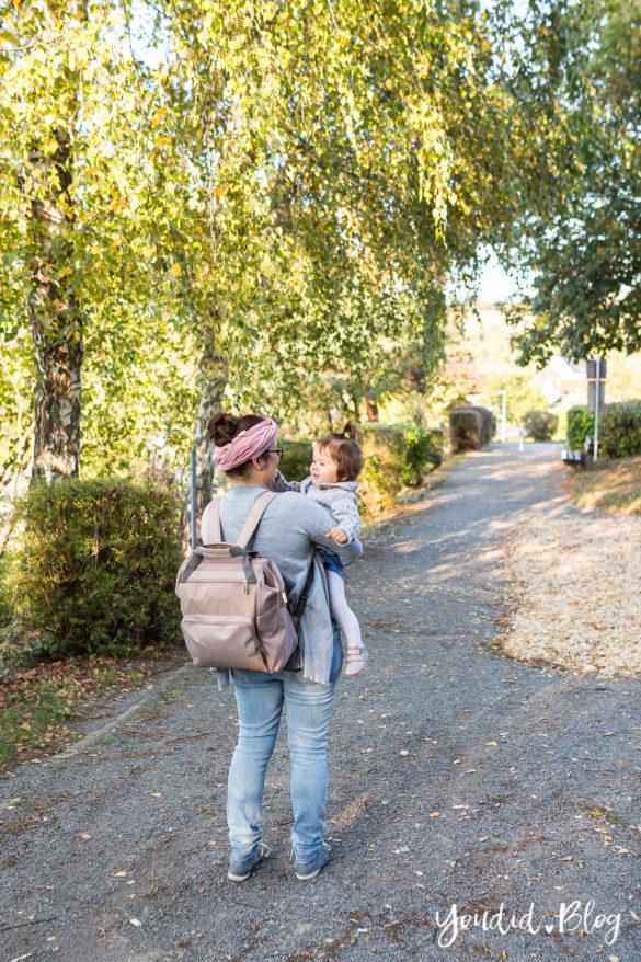 Wickeltasche oder Wickelrucksack was ist praktischer mit zwei Kindern Glam Goldie von Lässig | https://youdid.blog
